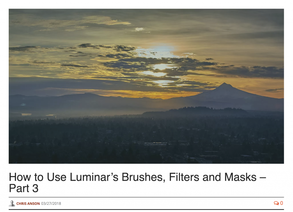 How to Use Luminar's Brushes, Filters and Masks – Part 3