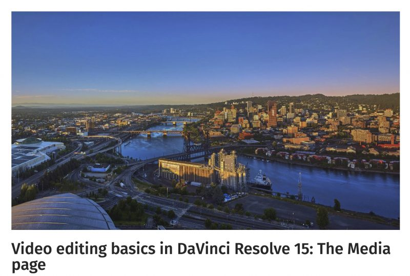Video editing basics in DaVinci Resolve 15-The Media page