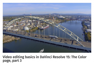 Video editing basics in DaVinci Resolve 15: The Color page, part 3