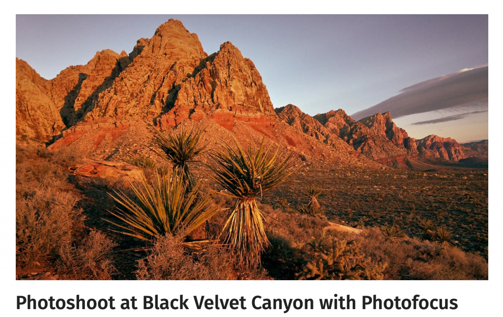 Photoshoot at Black Velvet Canyon with Photofocus