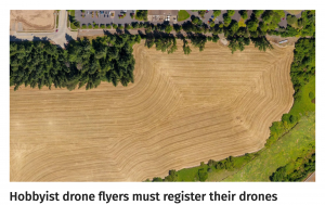 Hobbyist drone flyers must register their drones